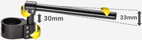 probrake Revo clip ons adjustability diagramm